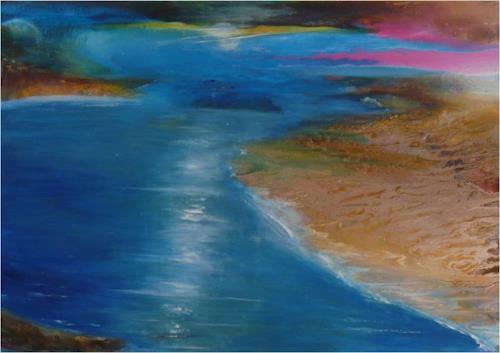 ReMara, Weite atmen, Landschaft: See/Meer, Diverse Gefühle, Gegenwartskunst, Expressionismus