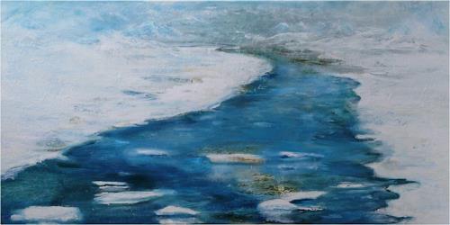 ReMara, Winterfluss, Landschaft: Winter, Natur: Wasser, Gegenwartskunst