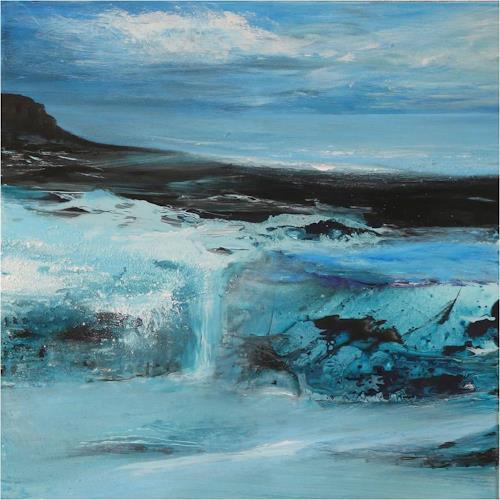 ReMara, Eiszeit, Landschaft: See/Meer, Zeiten: Winter, Gegenwartskunst, Expressionismus