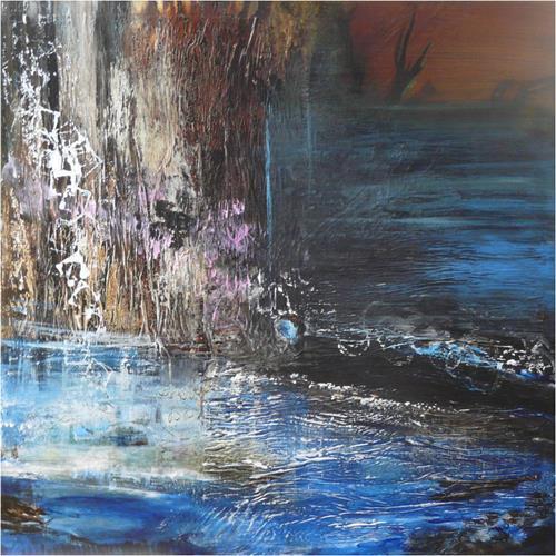 ReMara, An einem kalten Februarabend..., Abstraktes, Gefühle: Trauer, Gegenwartskunst, Expressionismus