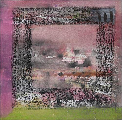 ReMara, Postkartenpärchen aus dem Urlaub, Abstraktes, Diverses, Gegenwartskunst, Expressionismus