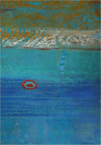 ReMara, Postkartenpärchen aus dem Urlaub, Abstraktes, Landschaft: See/Meer, Gegenwartskunst