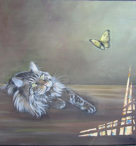 Erna Ryter, Frühlingsgefühl, Tiere, Realismus