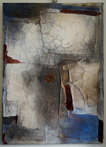 Christel Bormann, blau II, Abstraktes, Abstrakte Kunst, Moderne