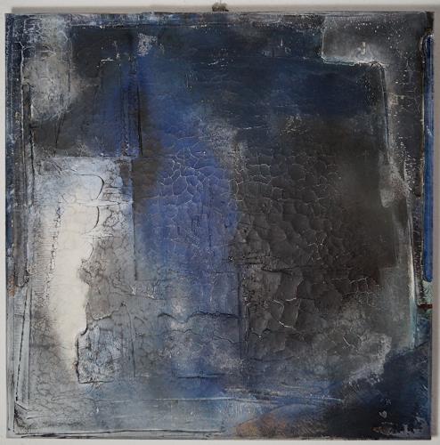 Christel Bormann, blau IV, Abstraktes, Abstrakte Kunst