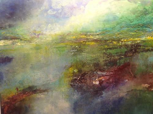 Sonia Radtke, moorlandschaft, Landschaft: See/Meer, Landschaft: See/Meer, Expressionismus