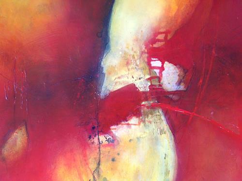 Sonia Radtke, Rouge-Jaune, Abstraktes, Abstrakte Kunst, Abstrakter Expressionismus