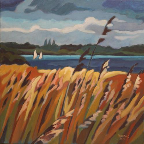 Matthias Haerting, Ansegeln (Beerster See), Landschaft: See/Meer, Natur: Wasser, Moderne