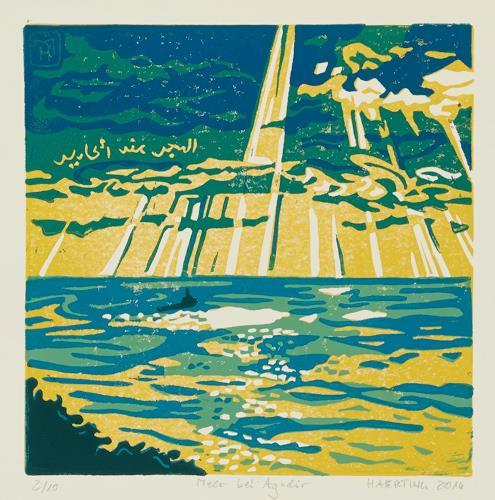 Matthias Haerting, Meer bei Agadir, Landschaft: See/Meer, Moderne, Expressionismus