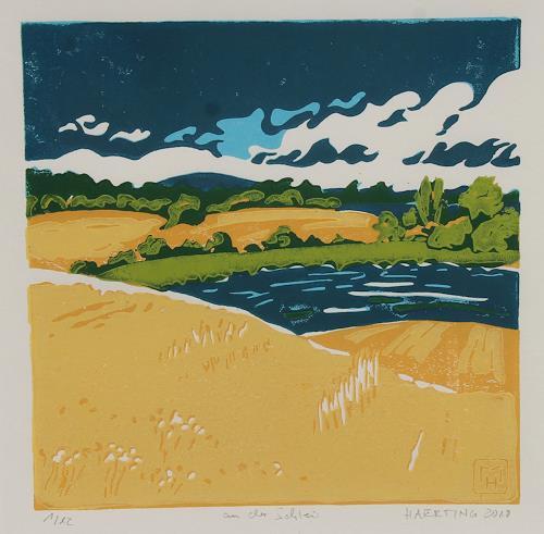Matthias Haerting, an der Schlei, Landschaft: Sommer, Landschaft: See/Meer, Moderne