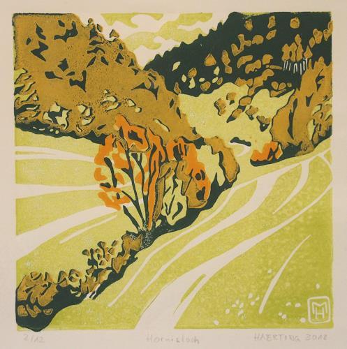 Matthias Haerting, Hornisloch, Landschaft: Berge, Landschaft: Herbst, Moderne, Expressionismus