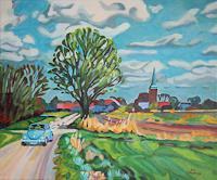 Matthias-Haerting-Landschaft-Fruehling-Pflanzen-Baeume-Moderne-Moderne