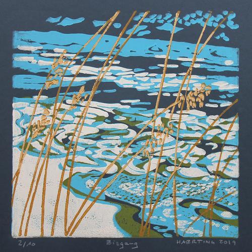 Matthias Haerting, Eisgang, Natur: Wasser, Landschaft: Winter, Moderne, Expressionismus