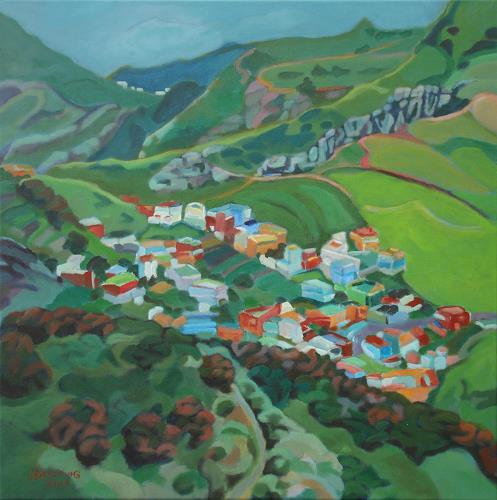 Matthias Haerting, Las Montanas (Teneriffa), Landschaft: Berge, Landschaft: Frühling, Moderne