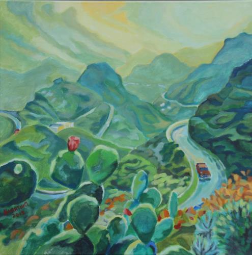 Matthias Haerting, Serpentinen, Landschaft: Berge, Natur: Diverse, Moderne