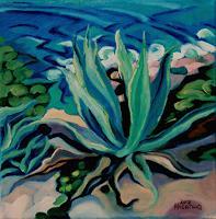 Matthias-Haerting-Landschaft-See-Meer-Pflanzen-Palmen-Moderne-Moderne