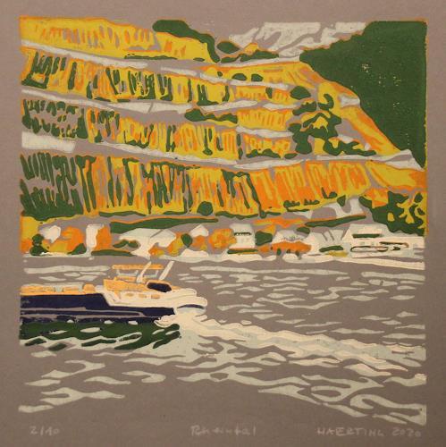 Matthias Haerting, Rheintal, Landschaft: Herbst, Landschaft: Berge, Moderne, Expressionismus