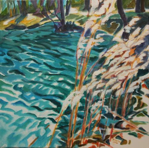 Matthias Haerting, Ufer, Landschaft: See/Meer, Landschaft: Herbst, Moderne, Expressionismus