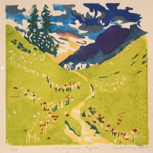 Matthias Haerting, Chiemgauer Alpen, Landschaft: Berge, Landschaft: Sommer, Moderne, Expressionismus