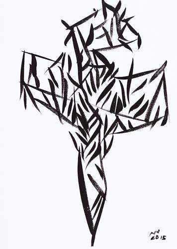 Goran Novak-Vallée, Der Zyklus Das Kreuz, Religion, Glauben, Gegenwartskunst, Expressionismus