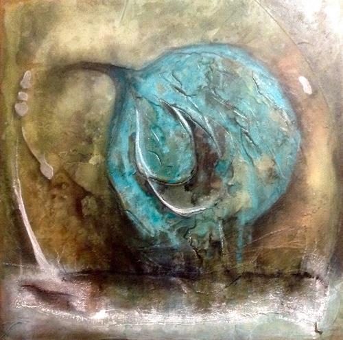 Katharina Frei-Boos, BLUEBALL, Abstraktes, Dekoratives, Gegenwartskunst, Expressionismus