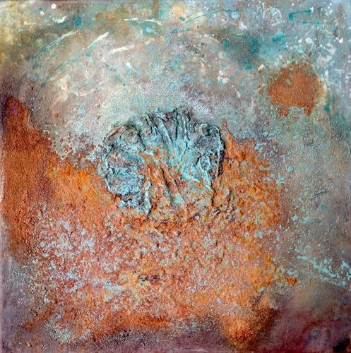Katharina Frei-Boos, Rost - das lebende Bild 1, Abstraktes, Dekoratives, Gegenwartskunst