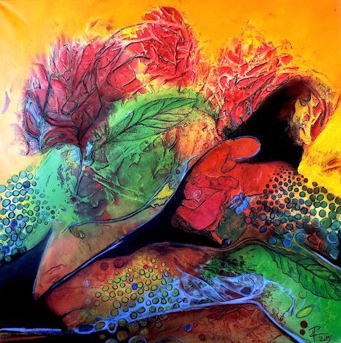 Katharina Frei-Boos, Flower Power, Abstraktes, Abstraktes, Expressionismus