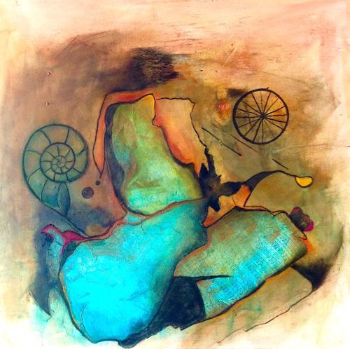 Katharina Frei-Boos, Timetraveller, Abstraktes, Fantasie, Abstrakte Kunst, Expressionismus