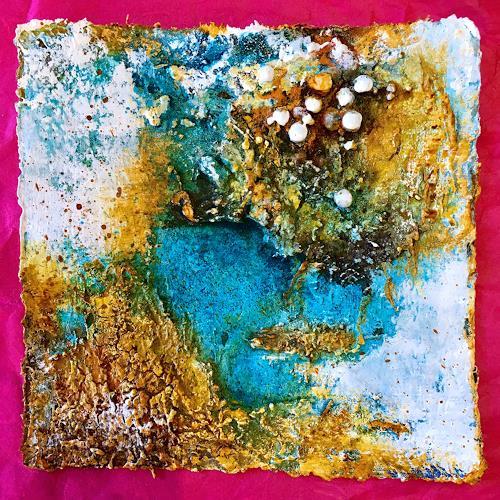 Katharina Frei-Boos, Earth - Painting Blue, Abstraktes, Abstrakte Kunst