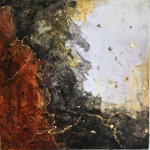 Katharina Frei-Boos, Kilauea, Abstraktes, Abstrakter Expressionismus