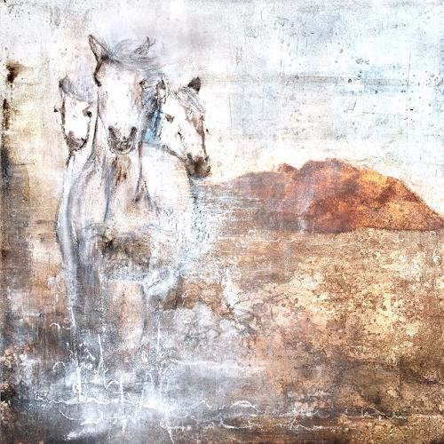 Katharina Frei-Boos, Sauvage, Abstraktes, Tiere: Land, Expressionismus