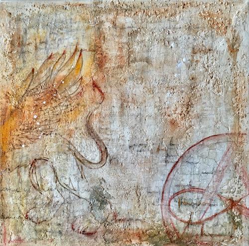 Katharina Frei-Boos, mura toscane #10-19, Abstraktes, Abstrakter Expressionismus