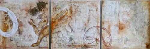 Katharina Frei-Boos, mura toscane #10/#11-19, Abstraktes, Abstrakter Expressionismus