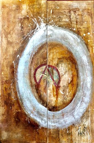 Katharina Frei-Boos, mura toscane, Abstraktes, Abstrakter Expressionismus