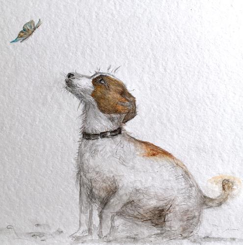 Katharina Frei-Boos, Lovestory (Drawing), Tiere, expressiver Realismus