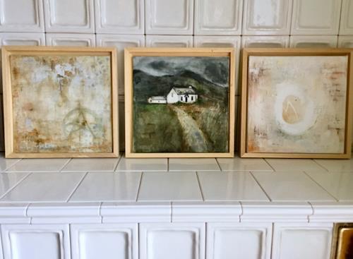 Katharina Frei-Boos, Seelenlandschaften und Mauerwerke, Abstraktes, Landschaft, Expressionismus
