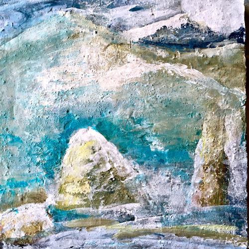 Katharina Frei-Boos, Landscape, Landschaft, Abstraktes, Abstrakte Kunst