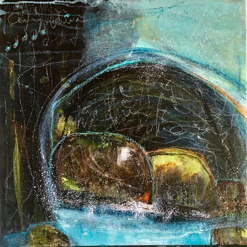 Katharina Frei-Boos, Landscape, Abstraktes, Landschaft, Abstrakte Kunst, Expressionismus