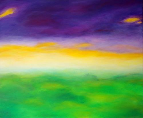 Ursula Glatz, Gewitterluft, Landschaft, Abstrakte Kunst