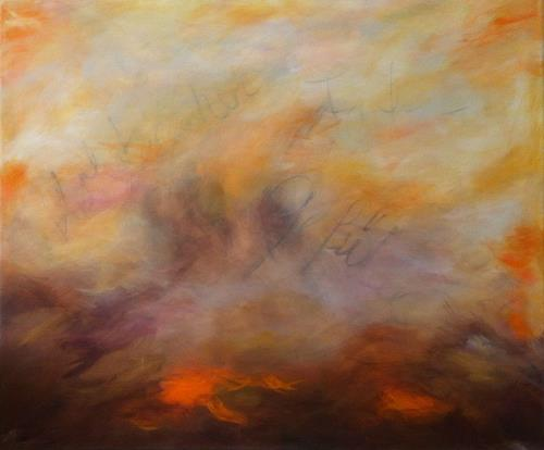 Ursula Glatz, Herbststimmung, Abstraktes, Abstrakte Kunst
