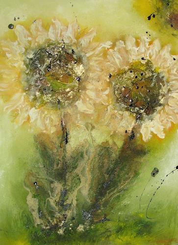 Ursula Glatz, Bergdisteln, Abstraktes, Abstrakte Kunst, Expressionismus