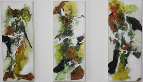 Ursula Glatz, Fliessende Hoffnung, Abstraktes, Abstrakte Kunst