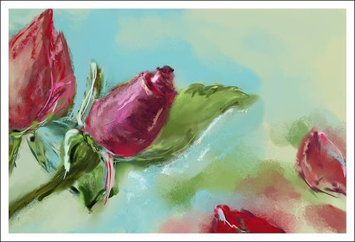 Mandy Tabatt, Eine Rose, Pflanzen: Blumen, Gegenwartskunst