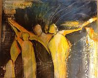 Gaby-Derungs-Menschen-Gruppe-Moderne-Abstrakte-Kunst