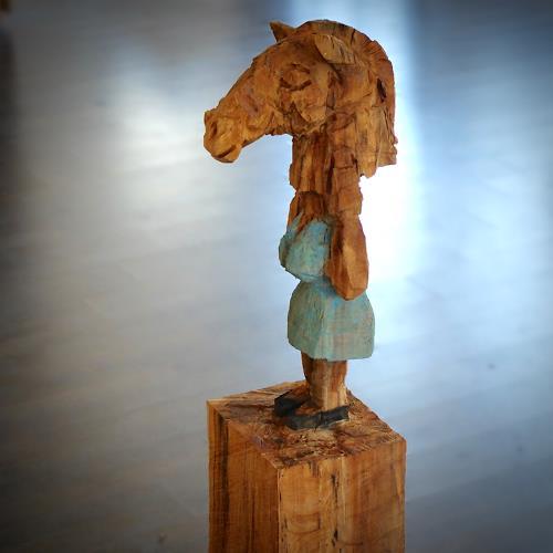 Marcel Bernet, Femme Cheval, Tiere: Land, Menschen: Frau, Gegenwartskunst, Abstrakter Expressionismus