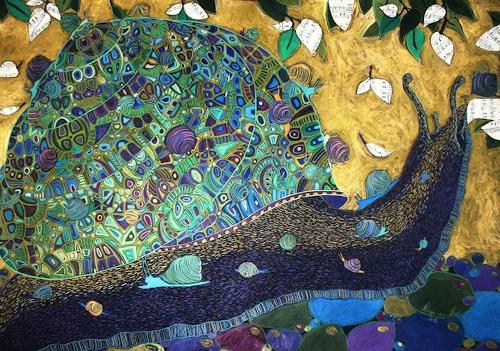 AlesyavonMeer, Les escargots, Diverse Tiere, Gesellschaft, Abstrakter Expressionismus