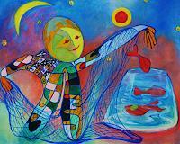 ILSE-RUBY-M-Abstraktes-Abstraktes-Moderne-Abstrakte-Kunst