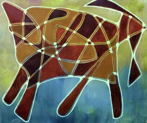ILSE RUBY-M., ein Tier, Abstraktes, Tiere, Abstrakte Kunst