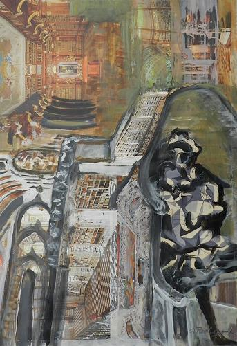 ILSE RUBY-M., Im Schloss, Abstraktes, Gegenwartskunst