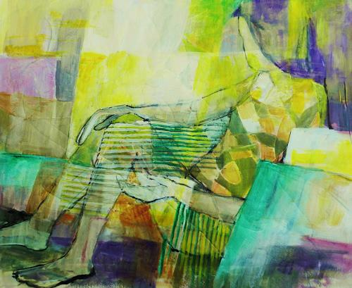 ILSE RUBY-M., Warten, Abstraktes, Menschen, Neue Figurative Malerei